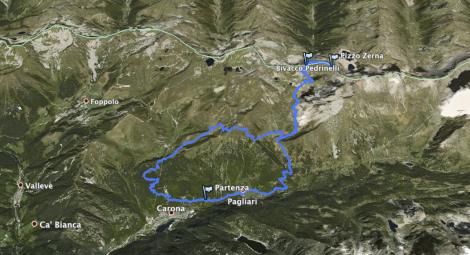 Bivacco Pedrinelli: traccia GPS