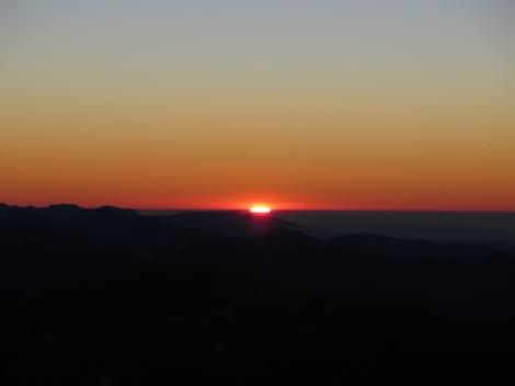 L'alba dalla Cima della Grigna Meridionale